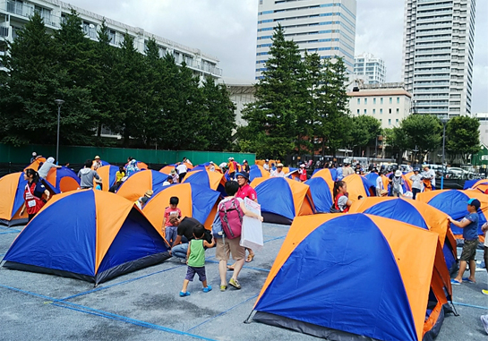 Operational cooperation of survival parents and children camp in Nakano Ward